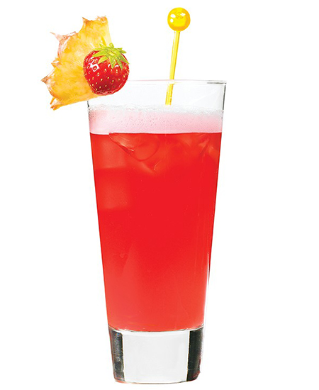 a picture of cocktail - passion tropic
